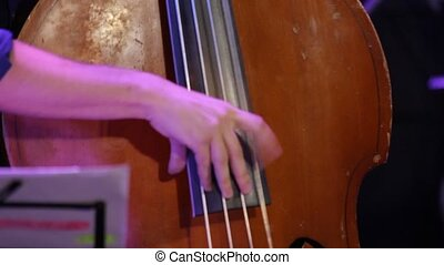 Hand Fast Play Double Bass - Hand fast play double bass at a...