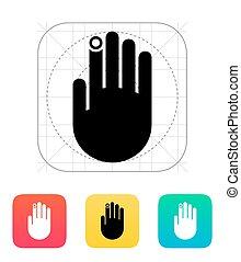 Hand finger id icon.