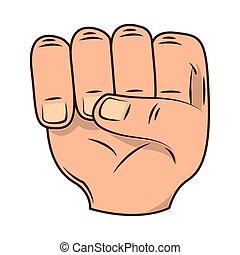 hand fist gesture