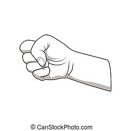 Hand fist gesture vector illustration good