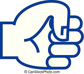 Hand fist line icon concept. Hand fist flat vector symbol, sign, outline illustration.