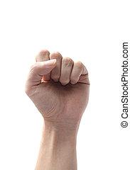hand fist symbol isolated