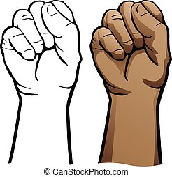Hand Fist Vector Illustration