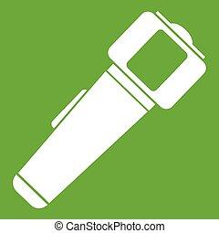 Hand flashlight icon green