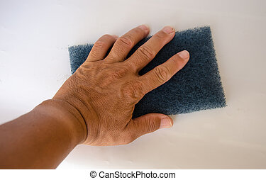 Hand for clean - hand for clean with sponge