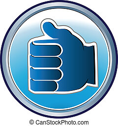 Hand framed logo icon