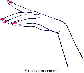 hand frau
