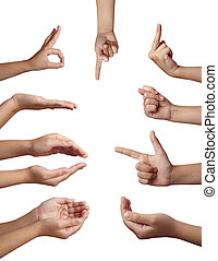 hand gesture body language - collection of hands gesturing...