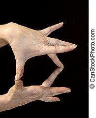 Hand Gesture - Hand gesture portrait