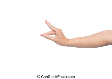 Hand gesture like dog face isolated on white background with clipping path