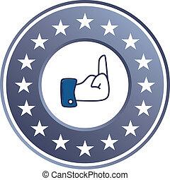 hand gesture sign theme vector art illustration