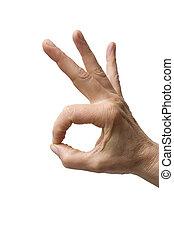 "\""hand gesture"