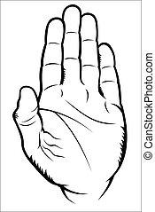Hand gesture - Stop