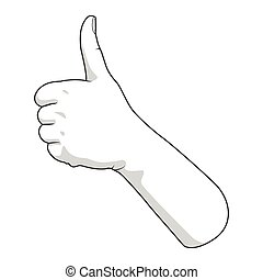 Hand gesture vector illustration good