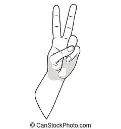 Hand gesture vector illustration