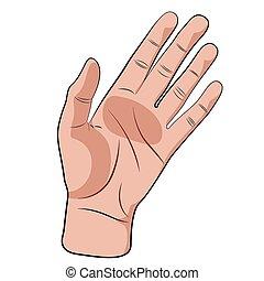 Hand gesture vector.