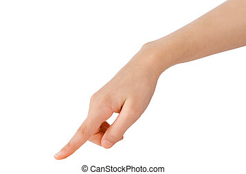 hand gesture - young hand in the gesture of touching,...