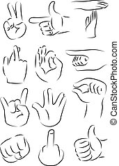 Hand gestures icon vector illustration