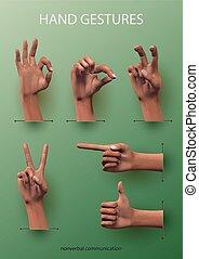 Hand Gestures Set