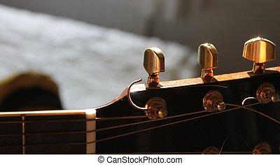 hand, gitarre