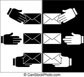 hand gives the envelope sign