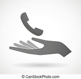 Hand giving a phone