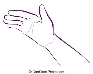 Hand Giving Blessing - Hand giving blessing. Religious and...