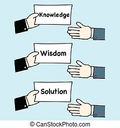 Hand giving knowledge,wisdom and solution - Illustration of...