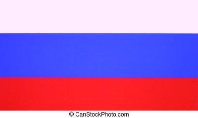 Hand giving thumb up with Russia flag, approval gesture with copy space