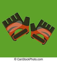 Hand Gloves vector color illustration.