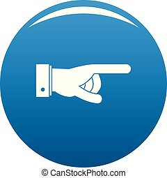Hand go icon blue vector