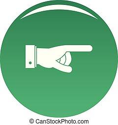 Hand go icon vector green