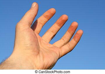 hand god pray