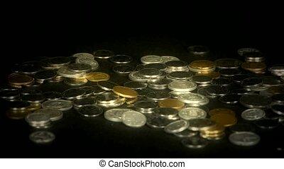 hand, grabbed, viel, von, geld