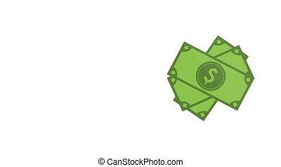 Hand grabbing cash HD animation - Businessman hand grabbing...