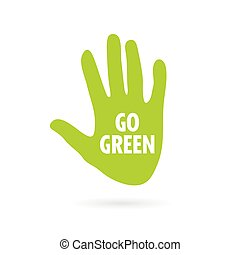 hand green vector illustration