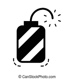 hand grenade icon black color