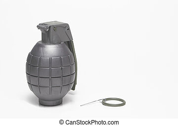 Hand Grenade - A hand grenade with the pin missing.