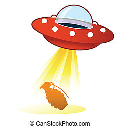 Hand grenade UFO button