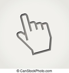 hand grey icon