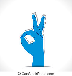 hand, gutes zeichen