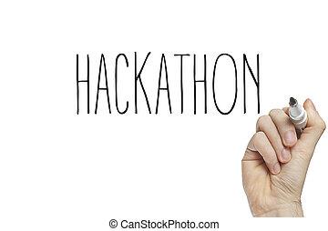 hand, hackathon, schreibende