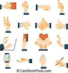 hand, heiligenbilder, satz, wohnung