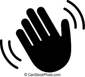 Hand hello sign