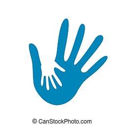 hand helping illustration