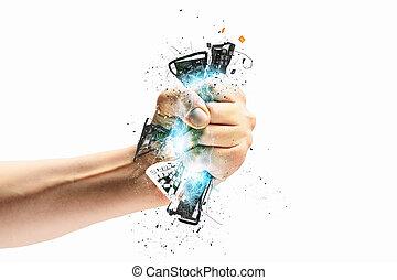 hand, het presen, toetsenbord