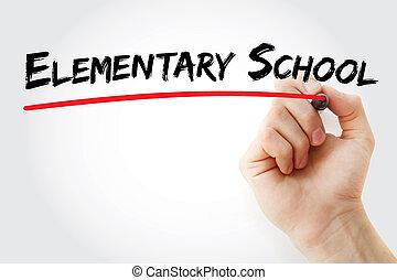 hand het schrijven, basisschool