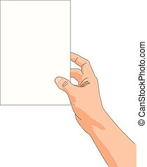 Hand hold blank page