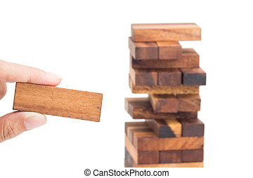 Hand hold blocks of wood