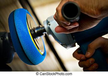 Hand hold car polisher